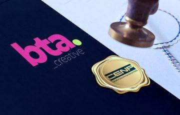 Logo da BTA com certificado do CENP