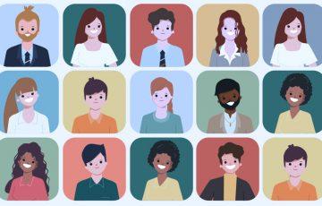 Vários rostos de pessoas lado a lado
